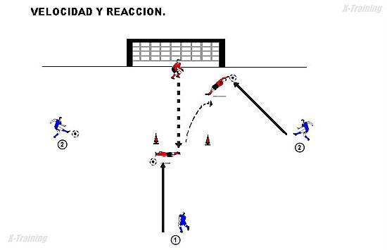 Entrenamiento De Velocidad Y Reacción Para Porteros Porteros Trabajos Prácticos Rubens Valenzuela Preparación Física En El Fútbol